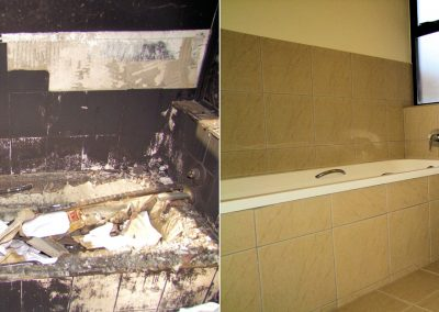 Fire Damage Bathroom